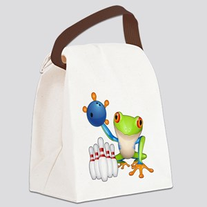 Bowling Frog Canvas Lunch Bag