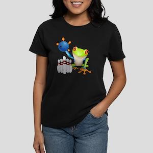 Bowling Frog Women's Dark T-Shirt