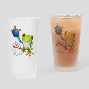 Bowling Frog Drinking Glass