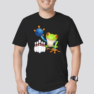 Bowling Frog Men's Fitted T-Shirt (dark)