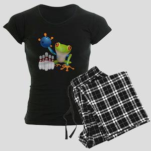 Bowling Frog Women's Dark Pajamas