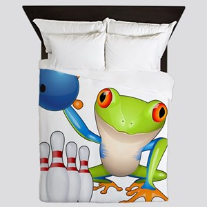 Bowling Frog Queen Duvet