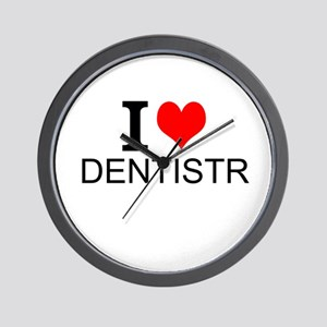 I Love Dentistry Wall Clock