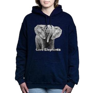 add544055cd1f6 Elephant Women s Hoodies   Sweatshirts - CafePress