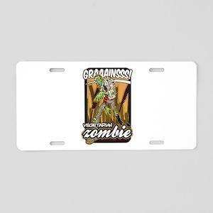 Vegetarian Zombie Aluminum License Plate