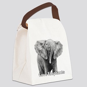 Love Elephants! Canvas Lunch Bag