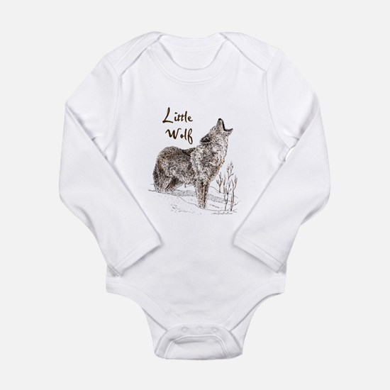 Funny Wolf Long Sleeve Infant Bodysuit
