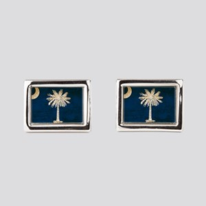 Vintage Flag of South Caroli Rectangular Cufflinks