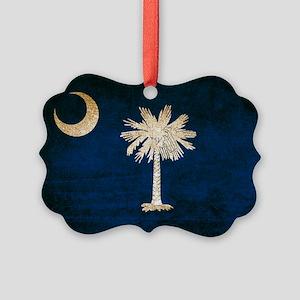 Vintage Flag of South Carolina Picture Ornament