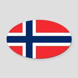 Flag of Norway Oval Car Magnet