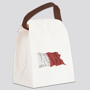 Qatar Flag (Distressed) Canvas Lunch Bag