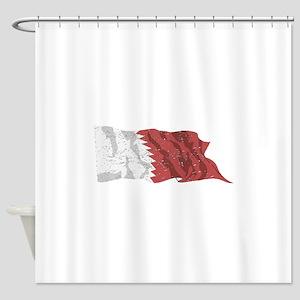 Qatar Flag (Distressed) Shower Curtain