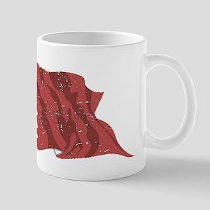 Qatar Flag (Distressed) Mugs
