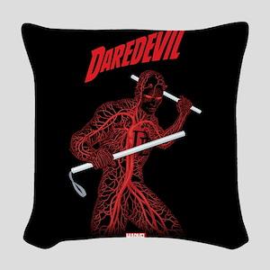 Daredevil Blood Woven Throw Pillow