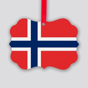 Flag of Norway Picture Ornament
