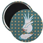 "Chicken Scratch Magnet; 2.25"" Magnet (10 pack)"