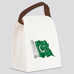 Pakistan Flag (Distressed) Canvas Lunch Bag