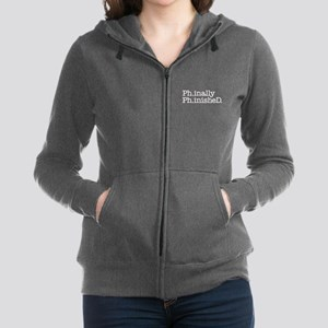 Finished PhD, Doctoral Degree Women's Zip Hoodie
