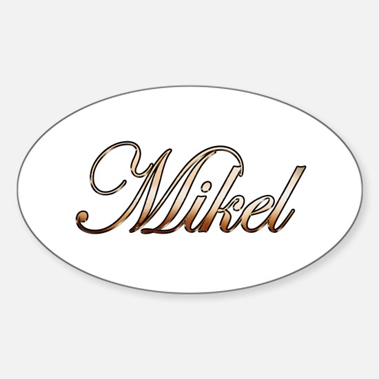 Gold Mikel Decal