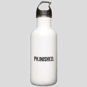 PhD finished, doctoral funny gift Water Bottle
