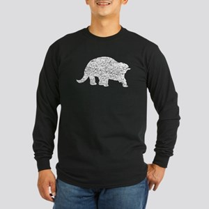 Distressed Triceratops Silhouette Long Sleeve T-Sh