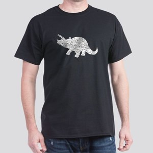 Distressed Triceratops Silhouette T-Shirt