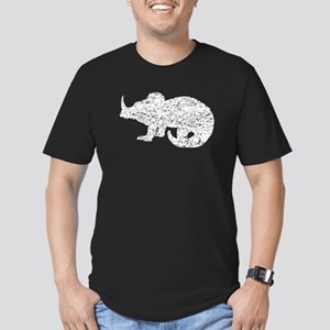Distressed Baby Triceratops Silhouette T-Shirt