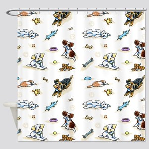 Poodle Mix n It Up Shower Curtain