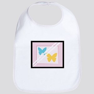 Framed Butterflies Bib
