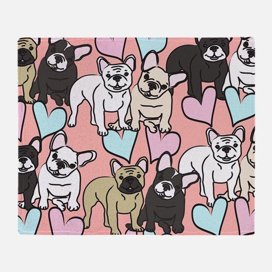 French Bulldogs Throw Blanket