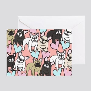 French Bulldogs Greeting Card