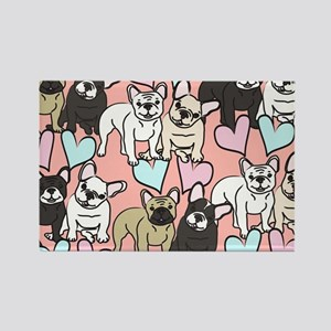 French Bulldogs Rectangle Magnet
