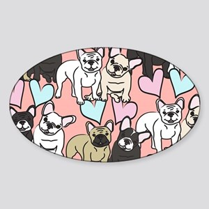 French Bulldogs Sticker (Oval)