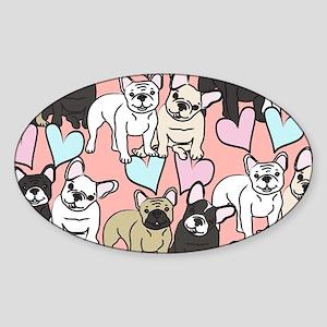 French Bulldogs Sticker (Oval)