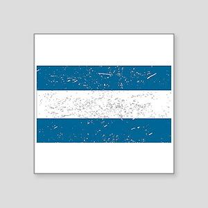 Nicaragua Flag (Distressed) Sticker