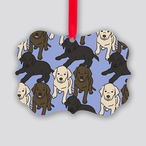 Labradors Picture Ornament