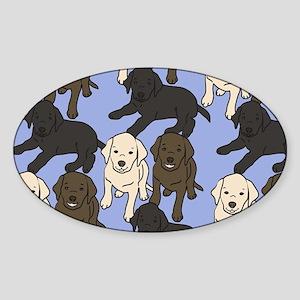 Labradors Sticker (Oval)