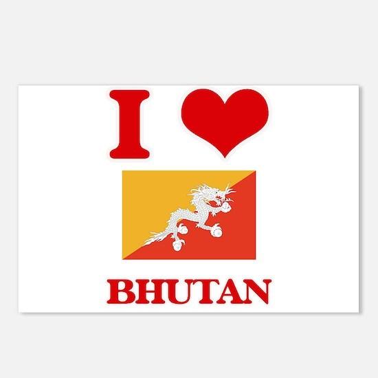 I Love Bhutan Postcards (Package of 8)