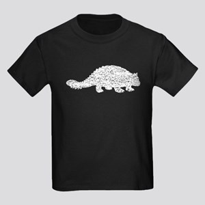 Distressed Ankylosaurus Silhouette T-Shirt