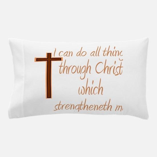 Philippians 4 13 Brown Cross Pillow Case