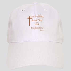 Philippians 4 13 Brown Cross Cap
