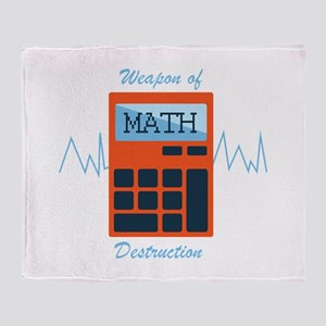 Weapon of Math Throw Blanket