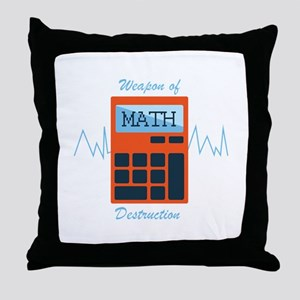 Weapon of Math Throw Pillow