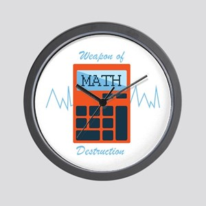 Weapon of Math Wall Clock