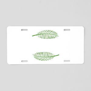 Palm Leaves Aluminum License Plate