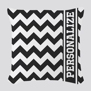 Personalized Black and White Chevron Pattern Woven