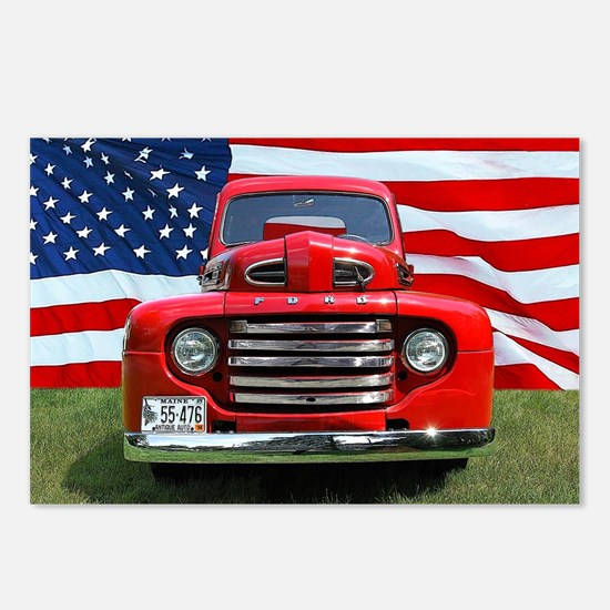 1948 Red Ford Truck USA F Postcards (Package of 8)