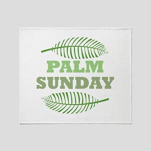 Palm Sunday Throw Blanket
