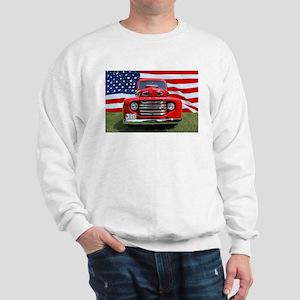 1948 Red Ford Truck USA Flag Sweatshirt