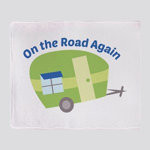 On The Road Again Throw Blanket
